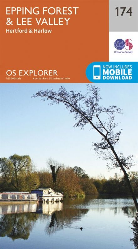 OS Explorer 174 - Epping Forest & Lee Valley, Hertford & Harlow